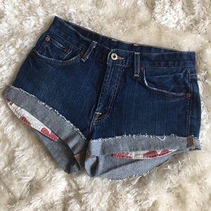Lucky Brand cut-off denim shorts size 29